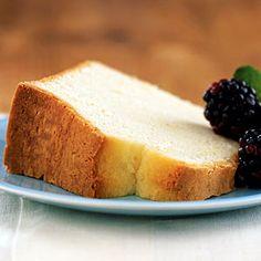 Diabetic Desserts | Sour Cream Pound Cake | CookingLight.com