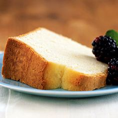 Diabetic Desserts | Sour Cream Pound Cake | CookingLight.com
