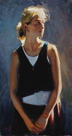 Kim English oil painting                                                                                                                                                                                 Mehr Kim English, Painting People, Figure Painting, Figure Drawing, Painting & Drawing, Impressionist Paintings, Cool Paintings, Life Drawing, Portrait Art