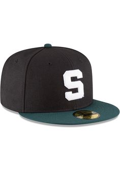 1ff7ac4c2f7 New Era Michigan State Spartans Mens Black College 59FIFTY Fitted Hat