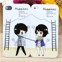 Couple Protective Plastic Case Set for iPhone 4/4S on Yoyoon.com. Make every day valentine's day!