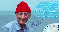 Jacques-Yves Cousteau - 11 de junio de 1910 - París, 25 de junio de 1997) fue un oficial naval francés, explorador e investigador que estudió el mar y varias formas de vida conocidas en el agua. Se recuerda sobre todo a Cousteau por haber sido en 1943 y junto a Émile Gagnan el coinventor de los reguladores utilizados todavía actualmente en el buceo autónomo. www.facebook.com/escribaniaestudiobenavides