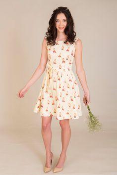 Fox Dress  Original Print by alicenightingale on Etsy