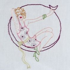Pin up Girls Iron on Hand Embroidery by SewLovelyEmbroidery