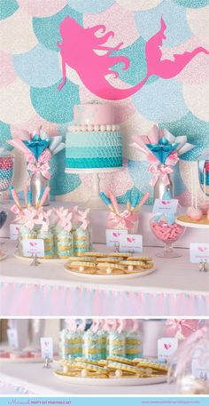 BARBIE MERMAID Birthday Party Printable Set by SweetScarletDesigns