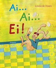 AI ... AI ... EI!  Rep en Roer, twee paashazen, halen de eieren op in het kippenhok en brengen ze naar de Poets- en Versierfabriek.