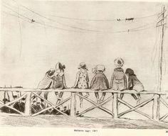 Леонид (Вениамин) Сойфертис (1911-1996) Моряки идут, 1941 | Leonid Soyfertis (1911-1996) Sailors are going, 1941
