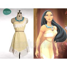 Disney Pocahontas Cosplay, Pocahontas Costume Set(C00311) found on Polyvore
