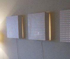 Luminaires muraux panneaux troués