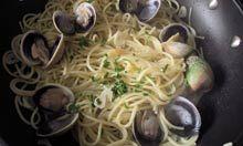 Angela Hartnett's spaghetti alle vongole. Photograph: Felicity Cloake for the Guardian