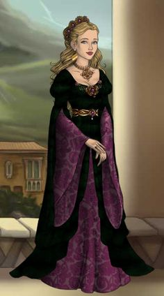 Lady Sabine Mallory ~ by chessur1841 ~ created using the LotR Hobbit doll maker | DollDivine.com