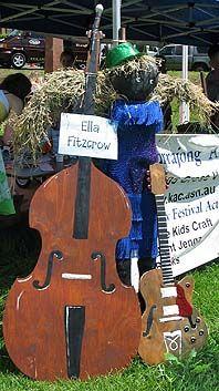 Famous Singer scarecrow idea
