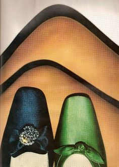 Bright Vintage Shoes in Harper's Bazaar November 1967.