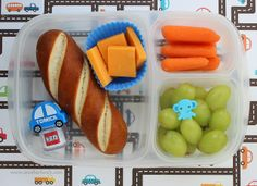 Soft pretzel packed for lunch with, carrots, grapes, cheddar cheese - Lunch Box Bento, Easy Lunch Boxes, Lunch Box Recipes, Lunch Snacks, Lunch Ideas, Box Lunches, Healthy Lunches, Easy School Lunches, Kids Lunch For School