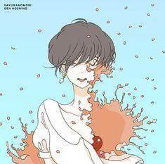 星野源『桜の森』ジャケット Anime Manga, Anime Art, Character Inspiration, Character Design, Cd Artwork, Anime Kunst, All Art, Cute Art, Painting & Drawing