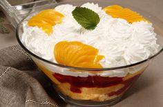 Trifle de pêssego
