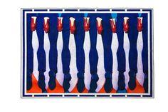 Seletti wears Toiletpaper, Legs - Tapis reprenant les visuels du magazine déjanté Toiletpaper, créé par Maurizio Cattelan et Pierpaolo Ferrari. 194 x 280 cm.