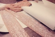 DIY Glitter tights! A fun tutorial. These will turn out great for a New Year's/holiday party!