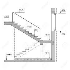 Buy Draft Project Stairs on White Background by In-Finity on GraphicRiver. Draft Project Stairs on White Background. House Layout Plans, House Layouts, House Floor Plans, Stairs Architecture, Architecture Details, Escalier Art, 20x40 House Plans, Stair Plan, Concrete Stairs