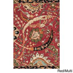 Hand-hooked Tessa Floral Multi Rug (9'3 x 13'0) - Overstock™ Shopping - Top Rated Alexander Home Oversized Rugs
