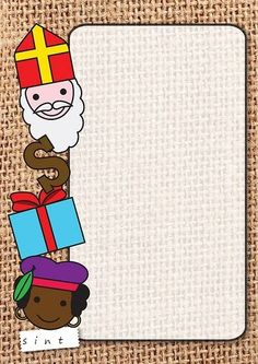 Supercool! Briefpapier waar jij je Sinterklaaslijstje op kan schrijven! Page Borders, Borders And Frames, Christmas Perler Beads, Printable Frames, Christmas Time, Diy And Crafts, Saints, Projects To Try, Merry