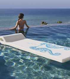 Our World's Finest Pool Float delivers incredible full-body support and nearly unsinkable buoyancy.