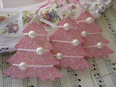 Pink Glittery Christmas Trees by vsroses.com, via Flickr
