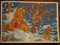 Received from Russia (Xramik) Christmas card Tag
