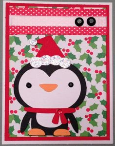 Christmas Cards Using the Cricut Create A Critter 2 Cartridge