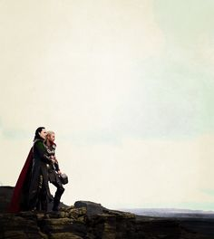 Loki  & Thor (GIF) This shows the difference between Thor and Loki. Thor is all lets go while Loki hangs back and analyzes more. Thor is brute strength; Loki is cunning.