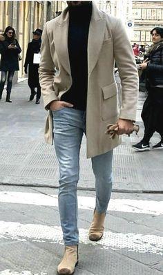 Fashion Causual Gentleman Outerwear Coat – livsmile - Best Fashions for All Mens Fashion Blazer, Big Men Fashion, Suit Fashion, Urban Fashion, Fashion Ideas, Classy Mens Fashion, Fashion Shirts, Gentleman Fashion, Winter Fashion