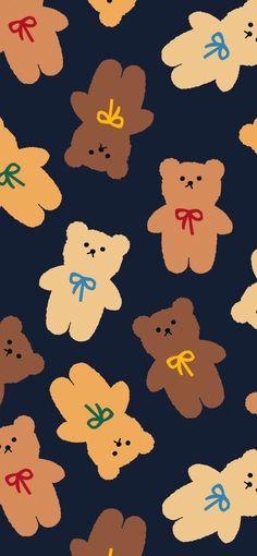 Cute Pastel Wallpaper, Soft Wallpaper, Bear Wallpaper, Cute Patterns Wallpaper, Iphone Background Wallpaper, Aesthetic Pastel Wallpaper, Kawaii Wallpaper, Aesthetic Wallpapers, Homescreen Wallpaper