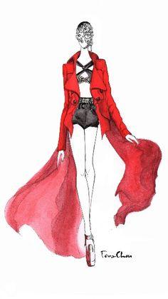 Maison Margiela S/S couture runway show. #fashion #illustration #fashionillustration #fashionillustrator #ferachou #runway
