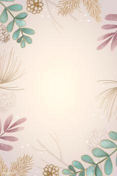 Xmas Wallpaper, Flower Background Wallpaper, Framed Wallpaper, Free Wallpaper Backgrounds, Pastel Wallpaper, Flower Backgrounds, Wallpaper Iphone Cute, Background Patterns, Cute Wallpapers