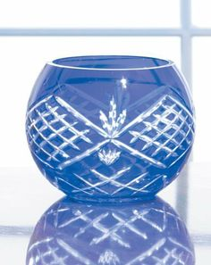 "Cobalt Blue Bowl by Banberry Designs. $34.95. Beautiful hand cut cobalt blue glass bowl.  The cuttings on this bowl are exquisite and very finely detailed.  Bowl measures 5"" x 5""."
