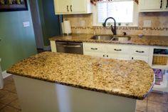 Mirador Gold  4x4 travertine tile backsplash  9 17 13