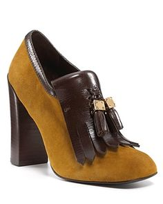 Tory Burch pumps.  Tassels and a kilty!  Plus, we have the same initials so it feels practically custom made.