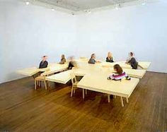 """Too Large Table  Wood and sheetrock, 33"""" x 192"""" x 192""""."""