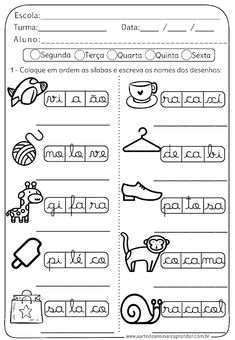 Atividade Pronta - Ordene as Palavras Portuguese Lessons, Projects For Kids, Language, Classroom, School, Instagram, Letter E Activities, Abc Centers, Language Activities