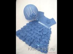 Crochet dress| How to crochet an easy shell stitch baby / girl's dress f...