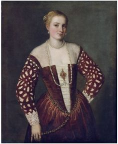 1560s Paolo Caliari (Veronese) - Portrait of a Woman from History of fashion in art & photo