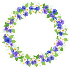 Floral Round Decoration PNG Clipart Image
