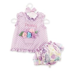 Pinafore and bloomer set. Adorable #SPRING outfit!