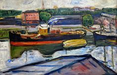 Edvard Munch (1863-1944), The Harbour in Lübeck, 1907. oil on canvas, 81.5 x 122 cm