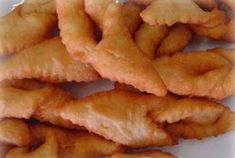 Fattigmands Bakkelser.  I grew up with these wonderful fried cookies.  This recipe is good except I don't use the lemon zest.