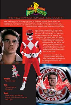 The Red Ranger: Jason Lee Scott