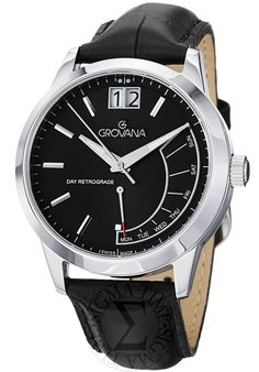 Price:$397.50 #watches Grovana 1722.1534, Grovana is a firm that has made a name for itself in the Swiss watch making industry through innovation and flexibility. Up to the 1970s it made mechanical watches that were always state of the art.