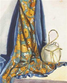 John Luke - Still Life with Orange Patterned Cloth Be Still, Still Life, John Luke, Irish Art, Orange Pattern, Antique Paint, Art Auction, Clothing Patterns, Plaid Scarf