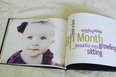 This is something I will 100% do. Compile pictures and chronicles into an actual baby book. LOOOVE.