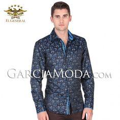 Camisa Vaquera  El General Western Wear 34939GM Navy